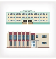 Set of two of buildings vector image vector image