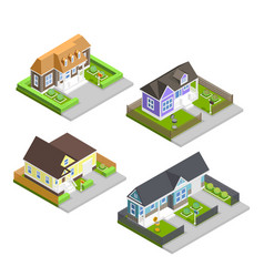 town houses composition vector image
