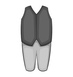 Waiter costume icon gray monochrome style vector