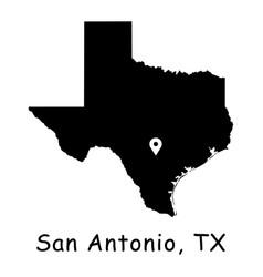 1288 san antonio tx on texas state map vector