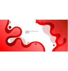 Abstract modern fluid or liquid red gradient vector