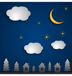 Abstract night landscape vector