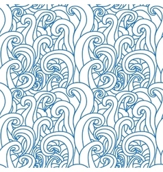Abstract seamless pattern with abstract doodle vector