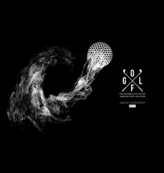 abstract silhouette a golf ball player golfer vector image