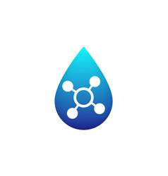 Acid icon with blue drop vector