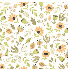 amazing flowers seamless pattern floral vector image