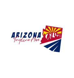 arizona desert mountain map inspiration logo vector image