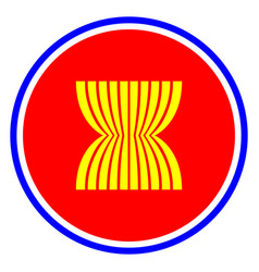 asean economic community icon isolated vector image