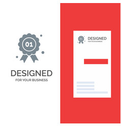 award badge quality canada grey logo design and vector image