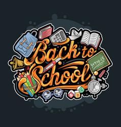 back to school typography artwork vector image