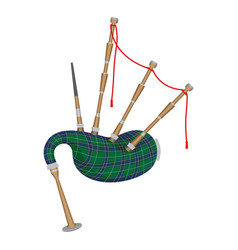 bagpipes isolated on white background wind vector image