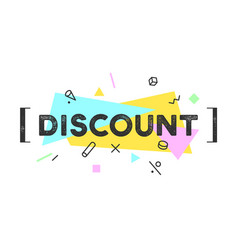 banner discount speech bubble vector image