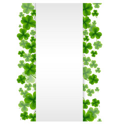banner with clovers vector image