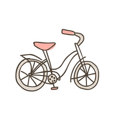 Bike doodle icon hand drawn sketch in vector