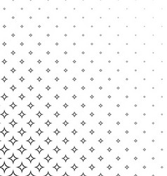 Black and white curved star background vector image