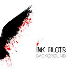 black raven background vector image