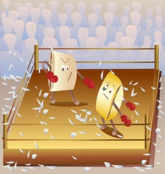 Boxing on the pillows vector