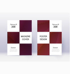 business cover design template set violet abstrac vector image