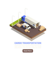cargo transportation parking background vector image