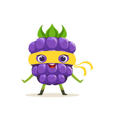 Cartoon character of happy superhero blackberry vector