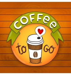 Cartoon coffee badge coffee vector image