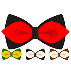 cartoon icon poster man father dad day bow tie vector image