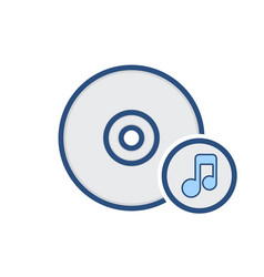 Cd compact disk drive music storage icon vector