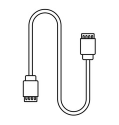 Charging vape cable icon outline style vector