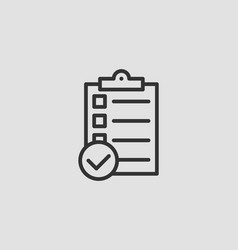 checklist icon line design marking completed vector image