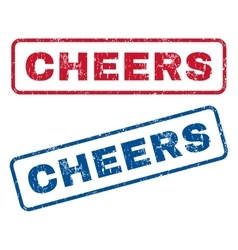 Cheers Rubber Stamps vector
