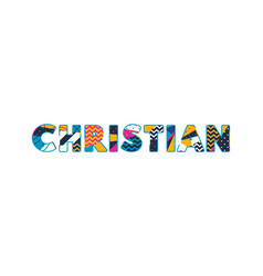 Christian concept word art vector