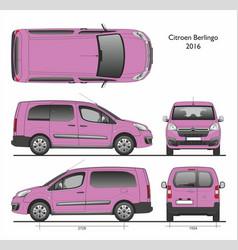 Citroen berlingo l2 2016 passenger van vector