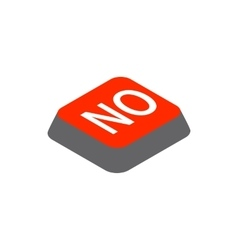 Click no button icon isometric 3d style vector
