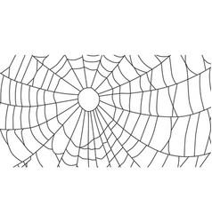 Cobweb isolated on white background spiderweb vector