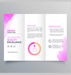 Company business trifold brochure layout template vector