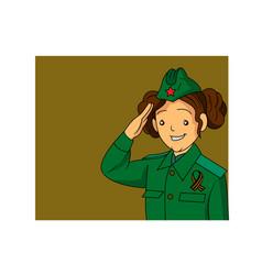 Cute russian girl vector