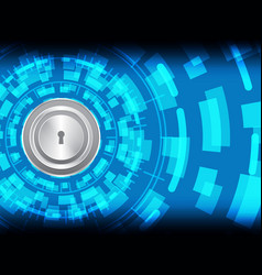 Cyber security keyhole lock vector
