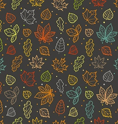 Different leaves silhouettes seamless pattern vector image