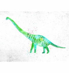Dinosaur brachiosaurus vivid vector