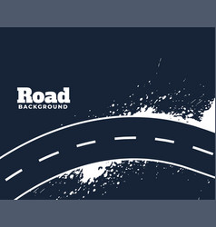 Dirty curve winding road abstract background vector