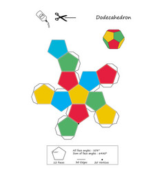 Dodecahedron origami vector