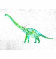 dynosaur brachiosaurus vivid vector image