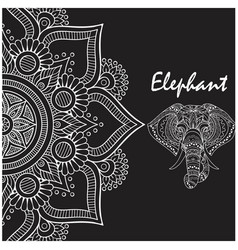 Elephant thai flower head of elephant image vector