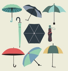 Fashion umbrellas in flat style vector