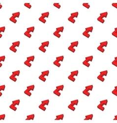 Fat arrow pattern cartoon style vector image