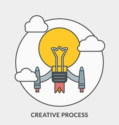 Flat design concept for Creative Process fo vector
