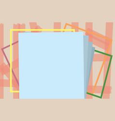 Flat design empty esp template vector
