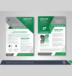 Flyer presentation template vector