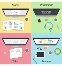 Freelance infographic Working with laptop Web vector