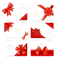 Gift cards set vector